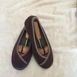 d3e753d39a5c0 Terrasoles Plum Fleece Ballet Flats Slip On Size 7